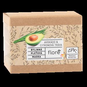 Floré Bylinná pleťová maska avokádo & citronová tráva 50ml