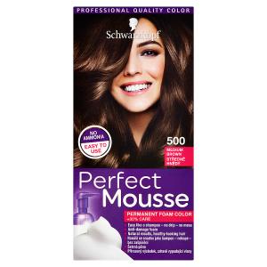 Schwarzkopf Perfect Mousse barva na vlasy Středně Hnědý 500