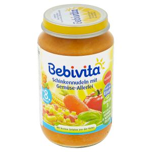 Bebivita Těstoviny se šunkou a zeleninovou směsí 220g