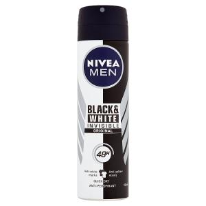 Nivea Men Invisible Black & White Original Sprej antiperspirant 150ml