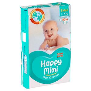 Happy Mimi Flexi Comfort dětské plenky 2 mini 50 ks