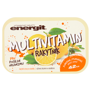 Energit Multivitamin + rakytník příchuť pomeranč 42 ks 38g