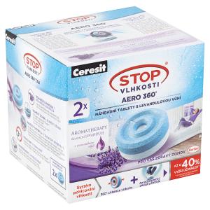 Ceresit Stop Vlhkosti Aero 360° náhradní tablety s levandulovou vůní 2 x 450g