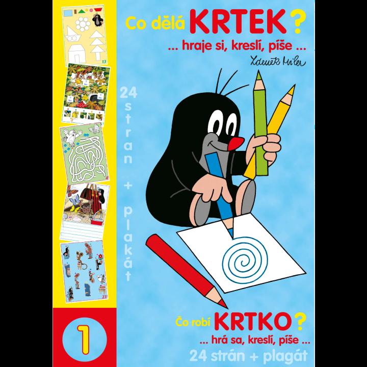 E-shop Akim Activity book A4 -Co dělá Krtek ?