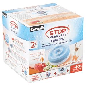 Ceresit Stop Vlhkosti Aero 360° náhradní tablety s ovocnou vůní 2 x 450g