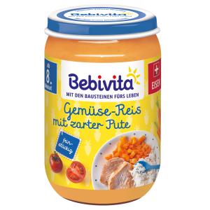 Bebivita Zelenina- rýže s krůtím masem 220 g