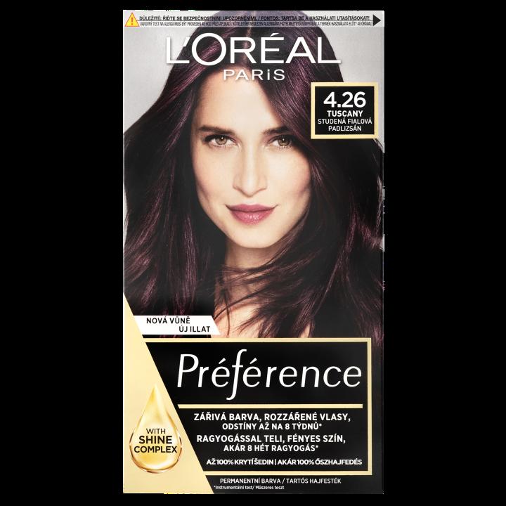 ĽORÉAL PARIS Préférence permanentní barva na vlasy 4.26 Tuscany Studená fialová