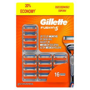Gillette Fusion5 Holicí Hlavice Pro Muže 16Ks