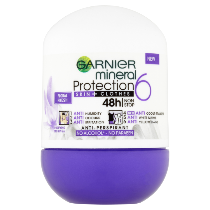 Garnier Mineral Protection 6 skin clothes antiperspirant roll-on 50ml