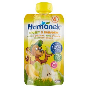 Hamánek Kojenecká výživa hrušky s banánem 120g