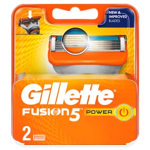 Gillette Fusion5 Power Holicí Hlavice Pro Muže 2Ks