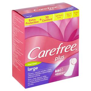 Carefree Plus Large slipové vložky se svěží vůní 48 ks