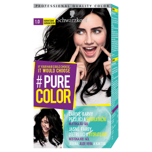 Schwarzkopf Pure Color barva na vlasy Havraní Černá 1.0