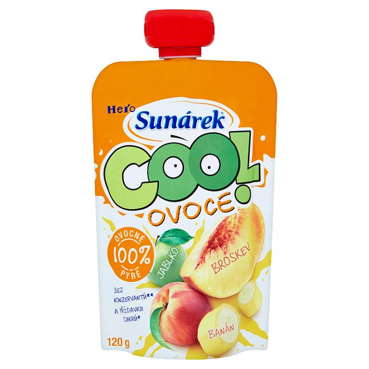 Sunárek Cool ovoce broskev, banán, jablko 120g Sunárek
