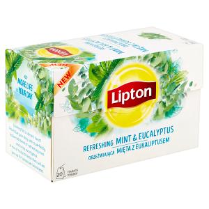 Lipton Bylinný aromatizovaný čaj Máta a eukalyptus 20 sáčků
