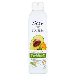 Dove Avokádový olej a extrakt z měsíčku lékařského tělové mléko ve spreji 190ml