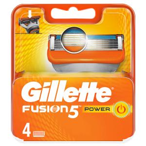 Gillette Fusion5 Power Holicí Hlavice Pro Muže 4Ks