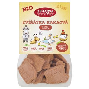 Biopekárna Zemanka Špaldová kakaová bio zvířátka 100g