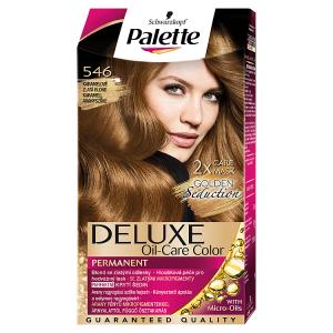 Schwarzkopf Palette Deluxe barva na vlasy Karamelově Zlatá Blond 546