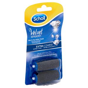 Scholl Velvet Smooth Rotační hlavice extra drsná s diamantovými krystalky 2 ks