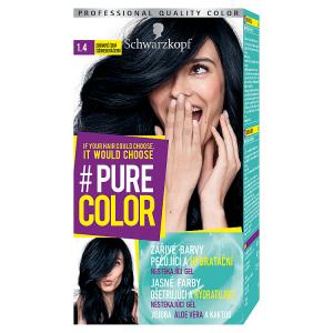 Schwarzkopf Pure Color barva na vlasy Borůvkově Černá 1.4