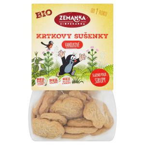 Biopekárna Zemanka Krtkovy vanilkové bio sušenky 100g