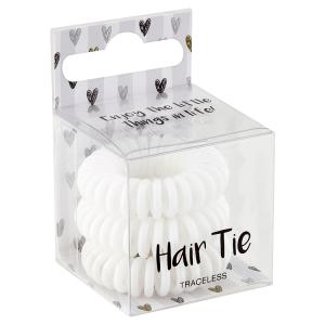 Gumička do vlasů bílá 3 ks