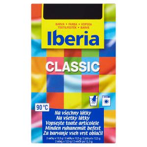 Iberia Classic Barva na všechny látky 21 černá 2 x 12,5g