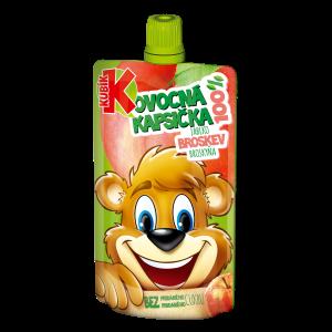 Kubík 100% ovocná kapsička jablko-BROSKEV 100g