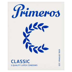 Primeros Classic kondomy z kvalitního latexu, 3 ks