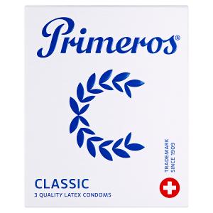 Primeros Classic kondomy s rozšířeným anatomickým tvarem a svěží vůní, 3 ks