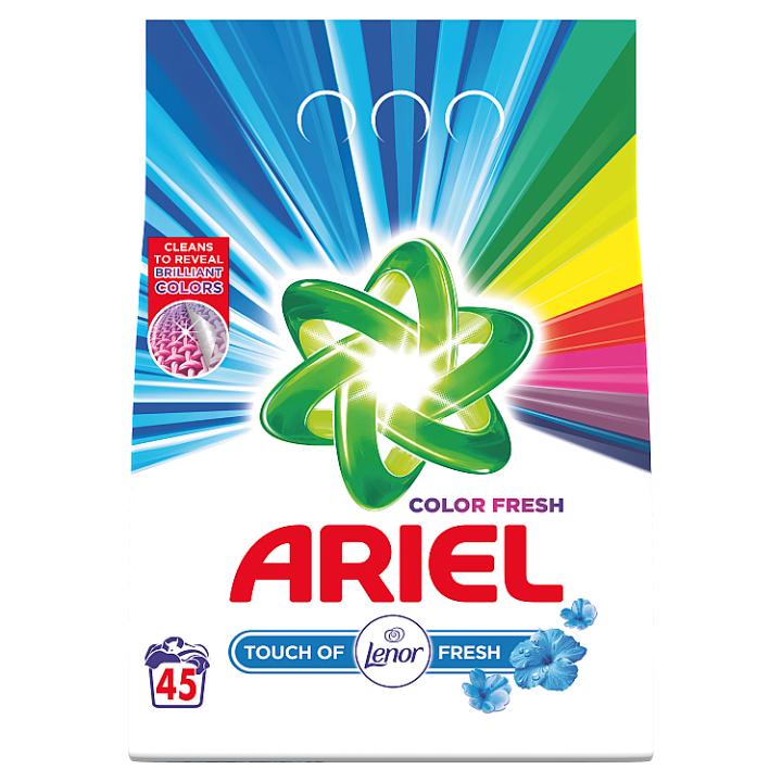 Ariel Touch Of Lenor Fresh Color Prací Prášek, 3.375kg, 45 Praní
