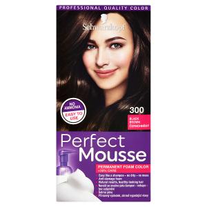 Schwarzkopf Perfect Mousse barva na vlasy Černohnědý 300