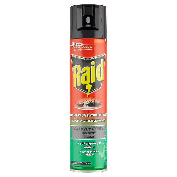 Raid Aerosol proti lezoucímu hmyzu s eukalyptovým olejem 400ml