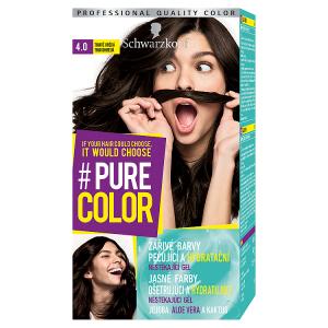 Schwarzkopf Pure Color barva na vlasy Tmavě Hnědá 4.0