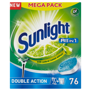 Sunlight All in 1 Tablety do myčky nádobí 76 ks 1330g