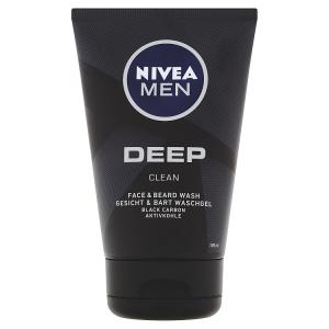 Nivea Men Deep Mycí gel na obličej a vousy 100ml