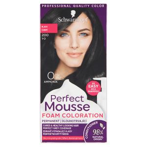 Schwarzkopf Perfect Mousse barva na vlasy Černý 200 (1-0)