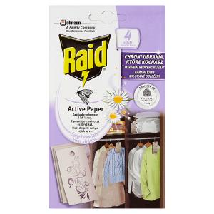 Raid Active Paper proti molům aktivní závěs čerstvé květy 4 ks