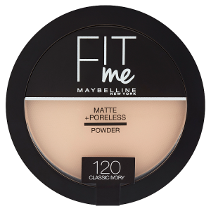 Maybelline New York Fit Me Matte & Poreless 120 Classic Ivory pudr 14g