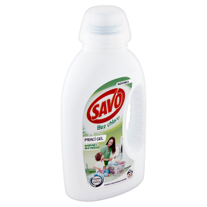 Savo Bez chlóru Universal prací gel na bílé a barevné prádlo 20 praní