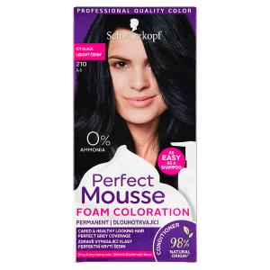Schwarzkopf Perfect Mousse barva na vlasy Ledový Černý 210