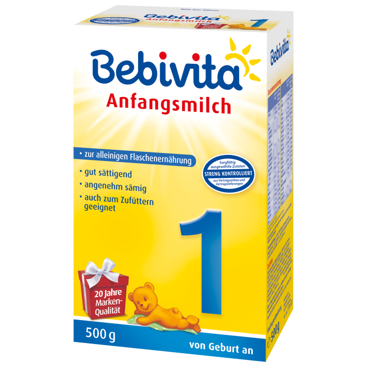 Bebivita 1 počáteční mléčná kojenecká výživa 500g