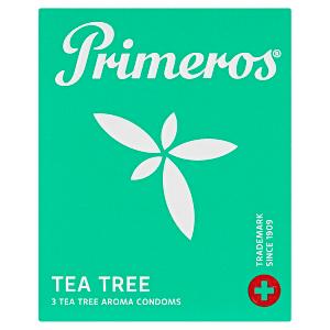 Primeros Tea Tree extra tenké kondomy svůní čajovníku australského, 3 ks
