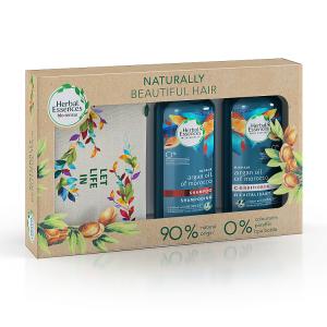 Herbal Essences bio:renew šampon 400 ml a balzám 360 ml s marockým arganovým olejem, dárková sada