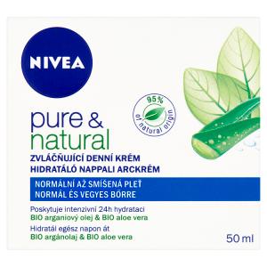 Nivea Pure & Natural Zvláčňující denní krém normální až smíšená pleť 50ml