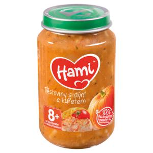 Hami masozeleninový příkrm Těstoviny s dýní a kuřetem od uk. 8. měsíce 200g