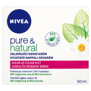 Nivea Pure & Natural Zklidňující denní krém suchá až citlivá pleť 50ml