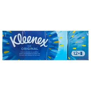 Kleenex The Original papírové kapesníky 4-vrstvé 12 x 7 ks