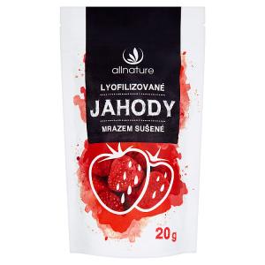 Allnature Lyofilizované jahody mrazem sušené 20g